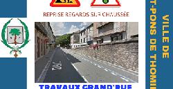 Travaux reprise regards sur chaussée - Grand Rue