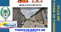 Travaux rénovation des îlots - Route de Castres