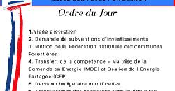 Conseil Municipal du 22/09/2021 - 18h : Ordre du Jour